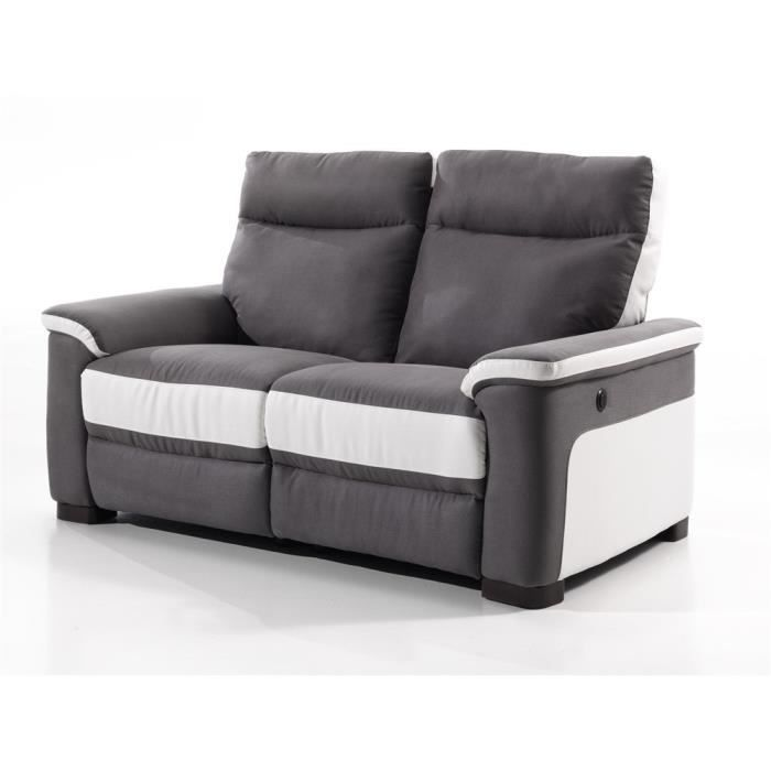canap relaxation 2 places switsofa colbert gri achat. Black Bedroom Furniture Sets. Home Design Ideas