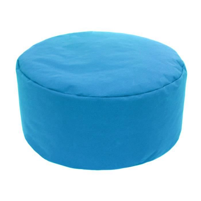 pouf tout rond int rieur ext rieur bleu. Black Bedroom Furniture Sets. Home Design Ideas