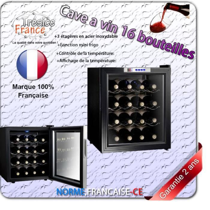 cave a vin r frig r es 16 bouteilles mini frigo50l achat. Black Bedroom Furniture Sets. Home Design Ideas