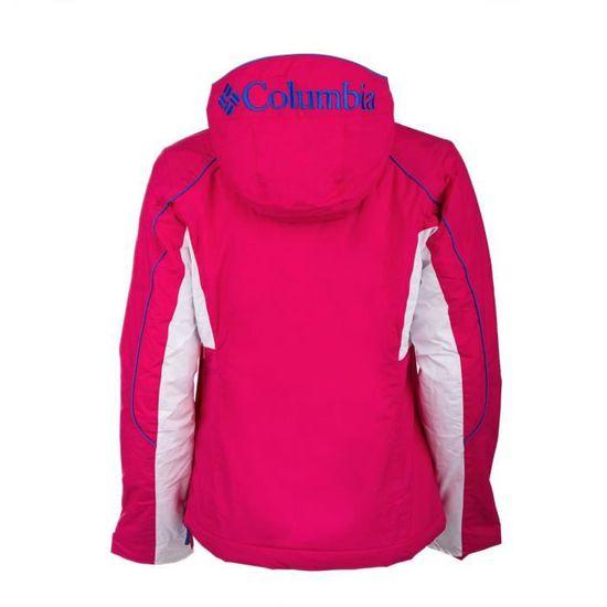 Veste sweat ski Femme COLUMBIA Couleur ROSE, Taille Vêtement L