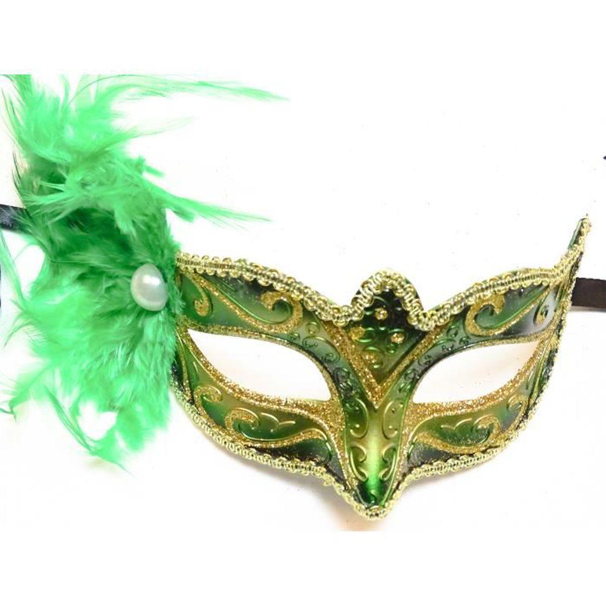 Original Vénitiens Masque Yeux Masque Avec Plumes Carnaval Bal Masqué Mardi Gras