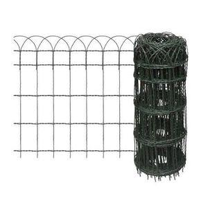 CLÔTURE - GRILLAGE Bordure de pelouse Fer enduit de poudre 10x0,65 m-