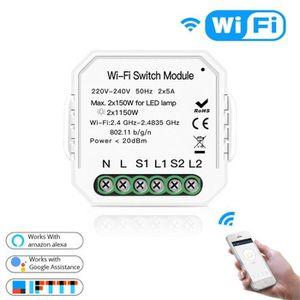 INTERRUPTEUR DIY WiFi Smart Switch Interrupteur Universel Sans
