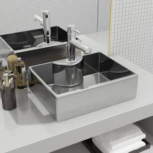 LAVABO - VASQUE Lavabo avec trou pour robinet 48x37x13,5 cm Cérami