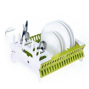 PORTE-VERRE Pliable rack Storable de séchage vaisselle avec su
