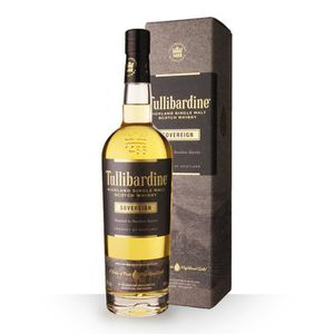 WHISKY BOURBON SCOTCH Tullibardine Sovereign 70cl - Coffret - Whisky Sin
