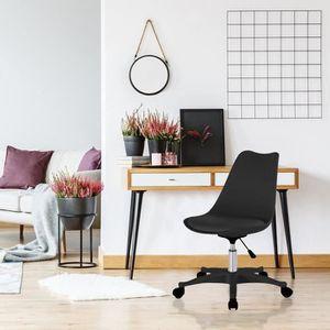 CHAISE DE BUREAU Chaise de bureau Kiruna noir Autres Noir