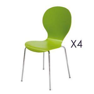 Chaise vert anis achat vente chaise vert anis pas cher for Chaise jardin vert anis