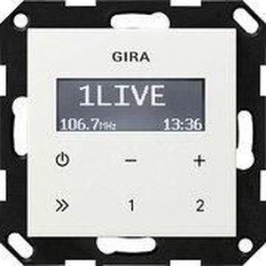 RADIO CD CASSETTE GIRA 228403 UP-RADIO RDS OHNE LAUTSPRECHER SYSTEM