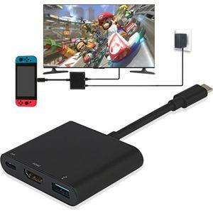 FIGURINE DE JEU Nintendo Switch Adaptateur HDMI USB Type C vers 4K