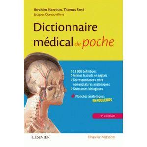 LIVRE MÉDECINE Livre - dictionnaire médical de poche (3e édition)