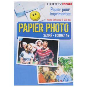 PAPIER PHOTO Papier photo Satine A4 160g - 45 feuilles