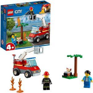 ASSEMBLAGE CONSTRUCTION LEGO® City 4+ 60212 L'extinction du barbecue - Jeu