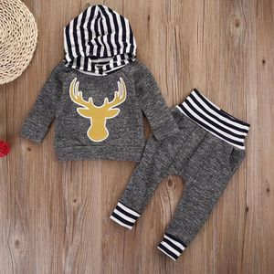 Ensemble de vêtements Toddler nouveau-né bébé fille garçon vêtements Dee