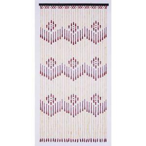 RIDEAU Rideau de porte en perle en bois - Dim : 90 x 200