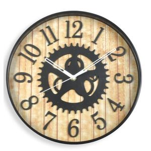 horloge murale en bois achat vente horloge murale en bois pas cher soldes d s le 10. Black Bedroom Furniture Sets. Home Design Ideas