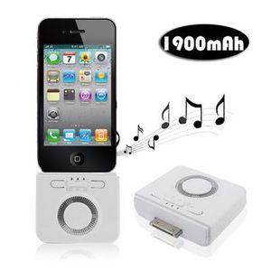 STATION D'ACCUEIL Enceinte batterie 1900 mah iPhone iPod 2 en 1 B…