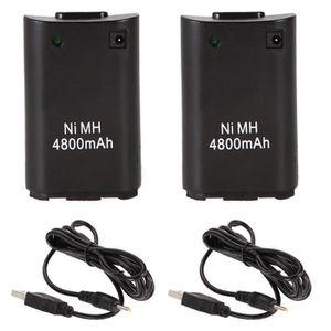 CHARGEUR CONSOLE lot de 2 USB chargeur câble 4800mAh batterie Recha
