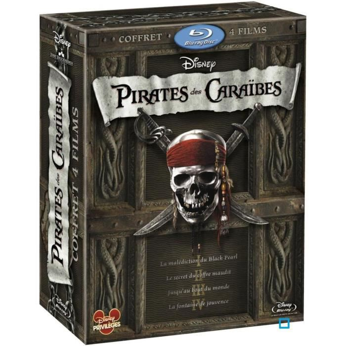 blu ray coffret int grale pirates des caraibes en blu ray. Black Bedroom Furniture Sets. Home Design Ideas