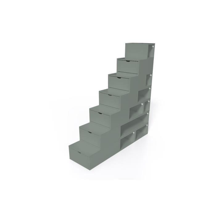 Escalier Cube de rangement hauteur 175 cm - Couleur - Gris