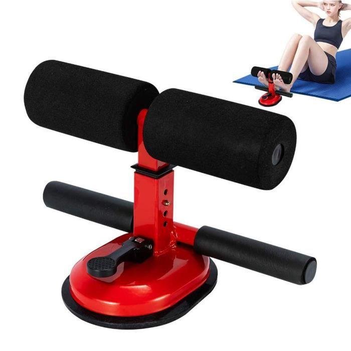 rouge Bâton de fitness gym assistée maison tube de résistance abdominale formation tabouret équipement de perte de poids