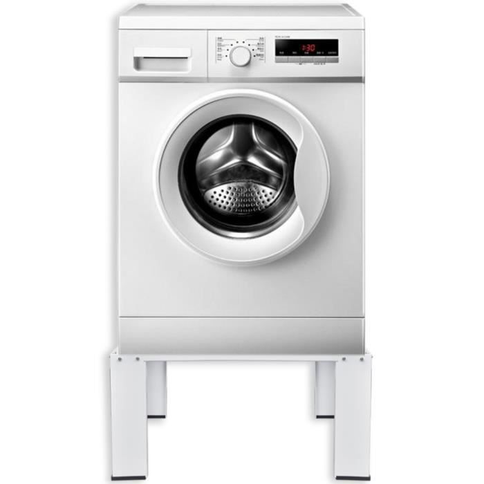 Accessoires pour lave-linge et seche-linge Socle pour machine a laver Blanc