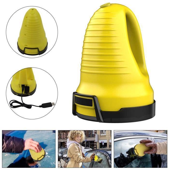 Grattoir à Glace pour Voitures, Chargement USB grattoir de Pare-Brise décapant à Neige grattoir à Glace Pare-Brise dégivreur
