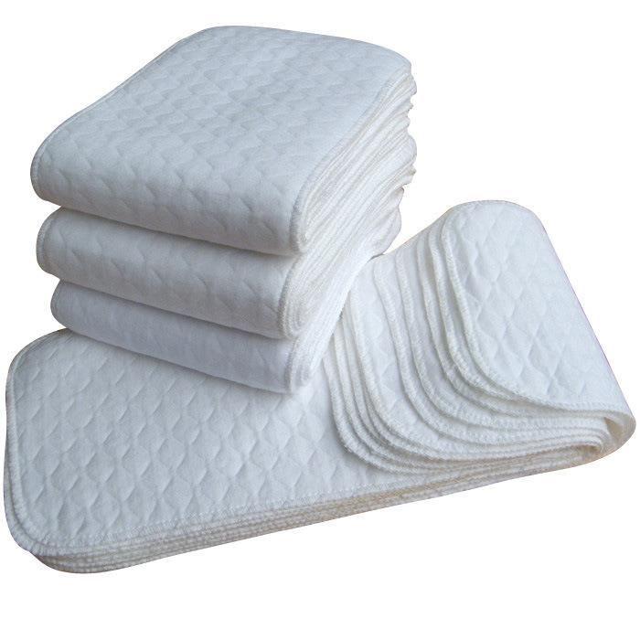 2 PCS Bébé Infantile Garçons Filles Enfants À Langer Jetable Réutilisable Lavable Tissu de Haute qualité 3 Couches Soins Coton Couch