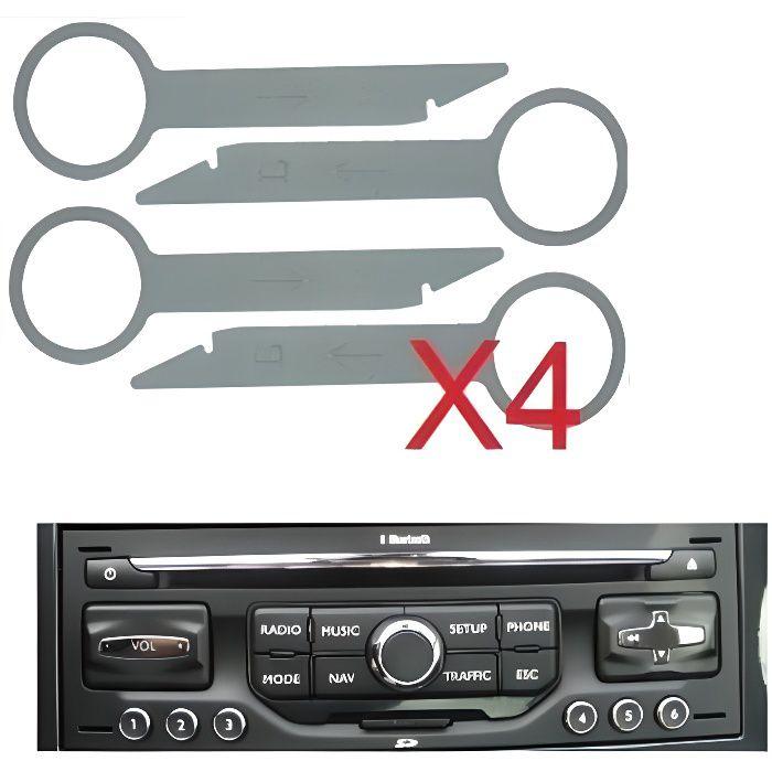 4 cles d'extraction demontage pour autoradio peugeot wip nav audi ford mercedes Skyexpert