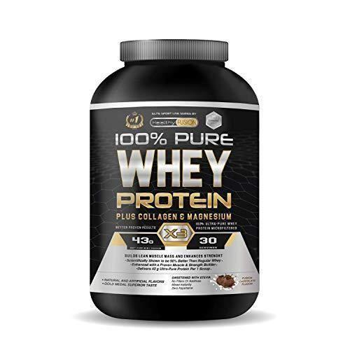 Whey protéine isolate pure avec magnésium - Protéine Whey ISO 100% pure - Avec collagène + magnésium - Construit une masse
