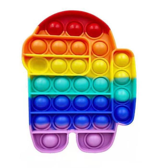 couleur A Amoung - bulle sensorielle américaine, à Jouët presseur Popit, anti-stress, Autisme, pour enfant