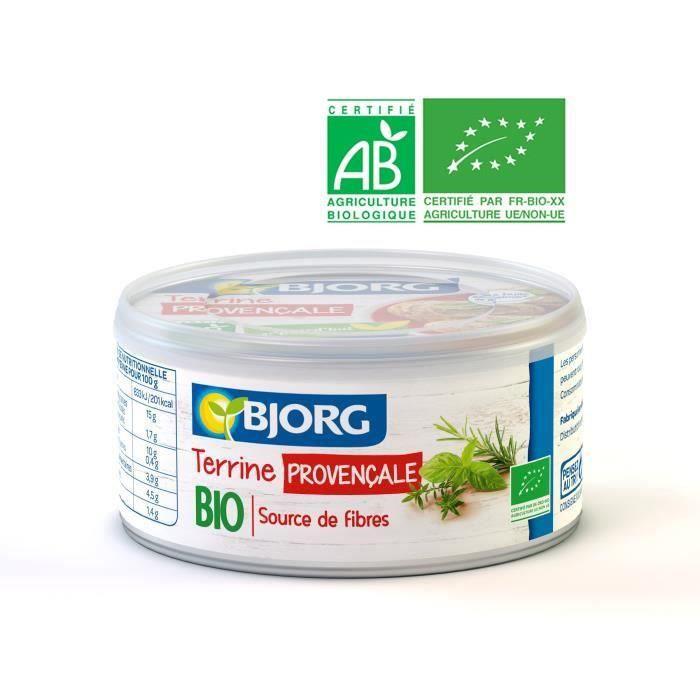 BJORG Terrine Végétale Provençale Bio 125g