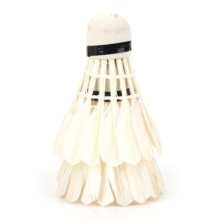 Dilwe plume de volant de badminton 12 Pcs / Lot balles de badminton en plumes blanches volants accessoire de formation de sports de