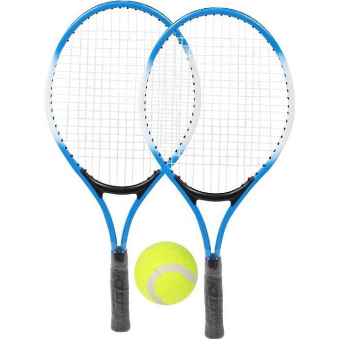 DUOKON Raquette de tennis pour enfants en alliage de fer - Raquette d'entraînement pour débutants avec balle et sac de transport
