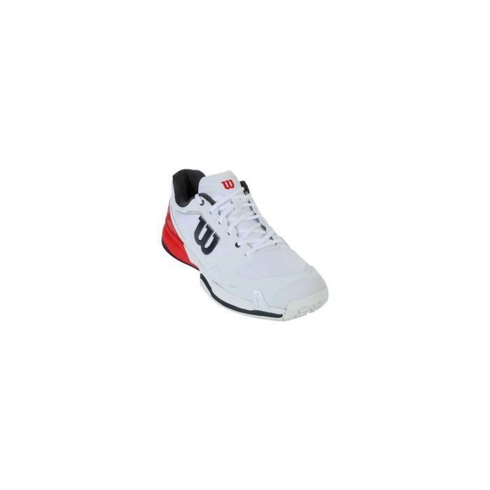 Chaussures WILSON Homme Rush Pro 2.5 Blanc / Rouge / Noir AH 2018