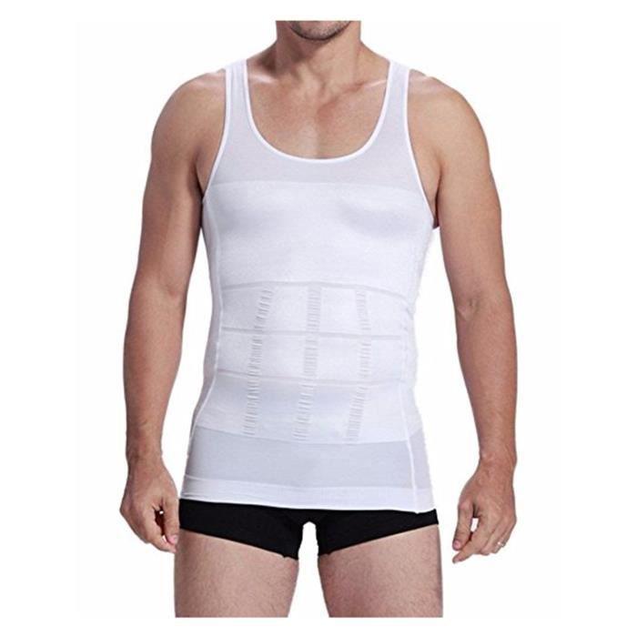 Homme Débardeur Gainant Compression Musculation Sport Maillot de coprs Sous-Vêtements masculins pour Hommes M-XXL