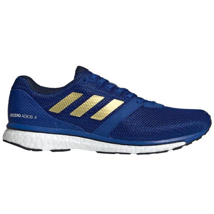 Chaussure de course adidas adizero Adios 4 pour homme, bleu royal