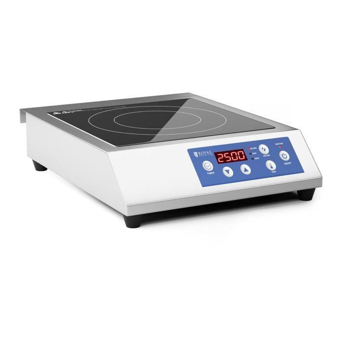 Plaque à induction Table De cuisson Induction Professionnelle Royal Catering RCIK-3500CG (3500W 13 Niveaux De Puissance 60 à 240dc)
