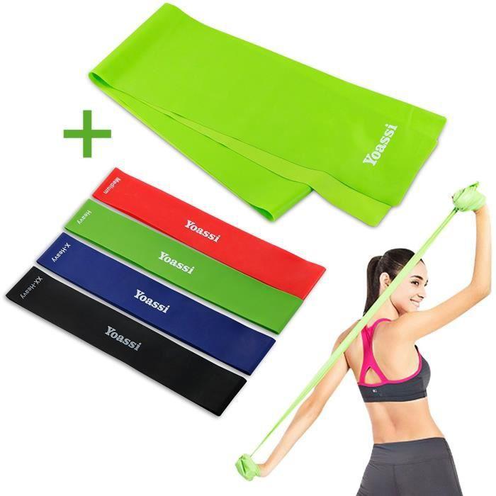 3 C Evol Lot de 5 Résistance Boucle Bandes Pour Exercice Sport Fitness Maison Gym Yoga
