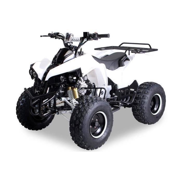 mini quad essence pour enfant vtt atv s 10 125cc blanc achat vente quad kart buggy. Black Bedroom Furniture Sets. Home Design Ideas