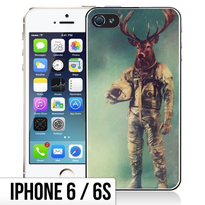 coque iphone 6 6s animal astronaute cerf