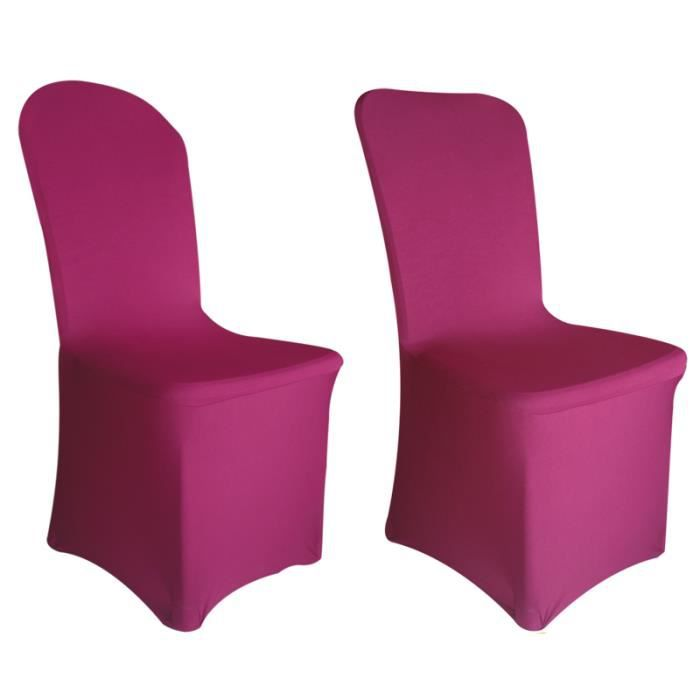 housse de chaise fushia lycra achat vente housse de chaise cdiscount. Black Bedroom Furniture Sets. Home Design Ideas