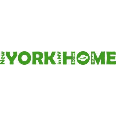 Sticker de porte new york in home 100 x 11 cm vert moyen for Decoration porte new york