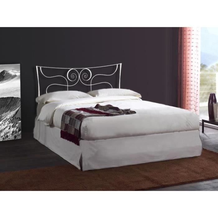 t te de lit en fer forg mod le loira achat vente t te de lit cdiscount. Black Bedroom Furniture Sets. Home Design Ideas