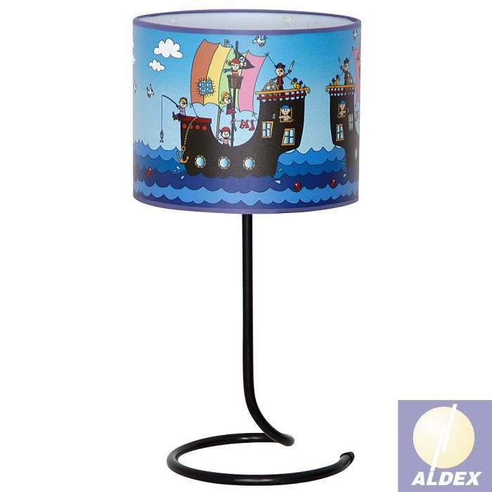 657b12 pirates chambre des enfants lampe de table 28cm x 50 cm x 28 cm achat vente 657b12. Black Bedroom Furniture Sets. Home Design Ideas