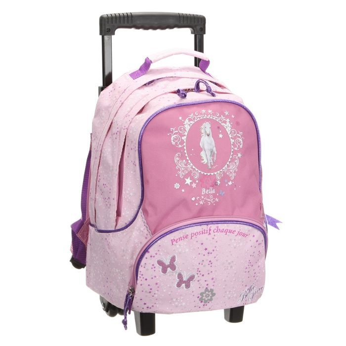 cute school bags sac ecole fille roulettes. Black Bedroom Furniture Sets. Home Design Ideas