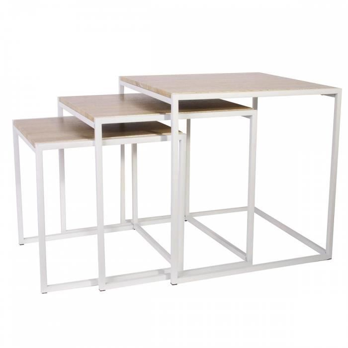 lot de 3 tables gigognes achat vente pas cher. Black Bedroom Furniture Sets. Home Design Ideas