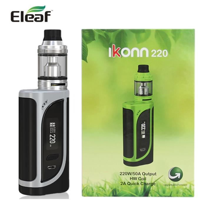 CIGARETTE ÉLECTRONIQUE Original Eleaf iKonn Kit 220W 4ml Ello Atomiseur a