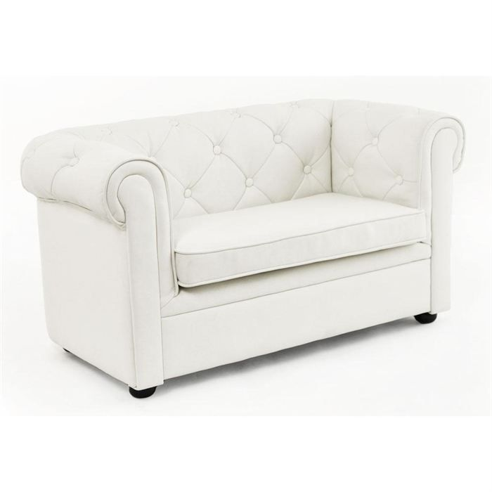 Canap enfant 2 places blanc baby chesterfield achat - Canape enfant places ...
