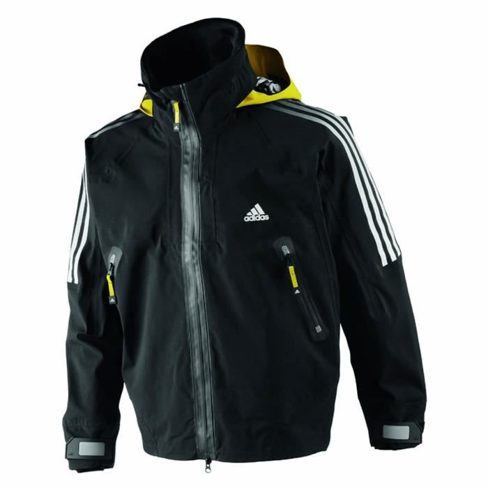 veste de quart homme adidas sail noir noir achat vente veste de sport cdiscount. Black Bedroom Furniture Sets. Home Design Ideas